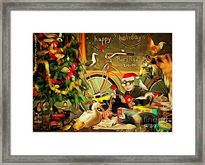 Christmas Mornings Are Magic 20140923 Framed Print