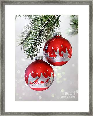 Christmas Nativity Ornaments Framed Print