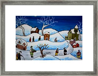 Christmas Night Framed Print by Loredana Messina