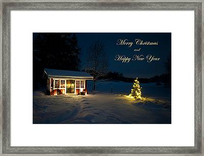 Christmas Night  Merry Christmas And Happy New Year Framed Print