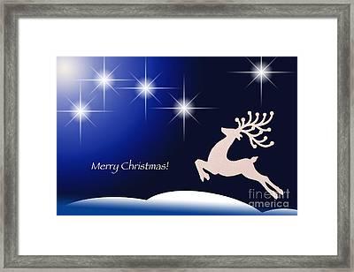 Christmas Night Framed Print by Simona Ghidini
