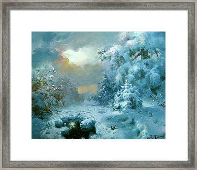 Christmas Night Fairy Tale Framed Print by Volodymyr Klemazov