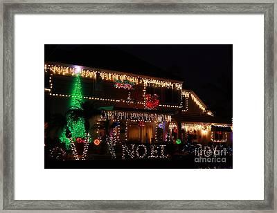 Christmas On East Lake Framed Print