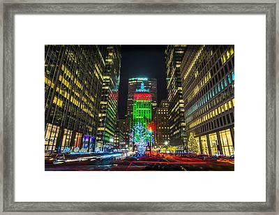Christmas On Park Avenue Framed Print by David Morefield