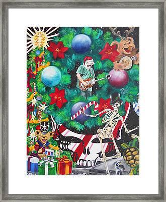 Christmas On The Moon Framed Print