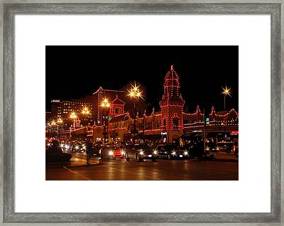 Christmas On The Plaza Framed Print by Ellen Tully