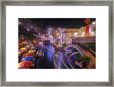 Christmas On The River Walk 3 Framed Print by Paul Huchton