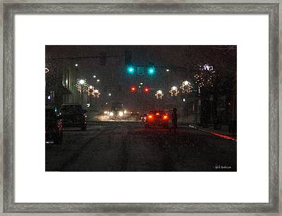Christmas On The Streets Of Grants Pass Framed Print by Mick Anderson