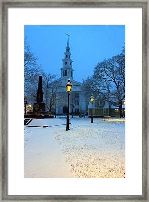 Christmas On The Town Common Framed Print by Butch Lombardi