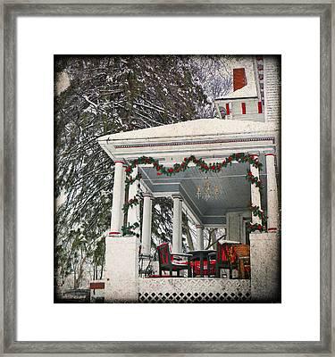 Christmas On The Veranda  Framed Print