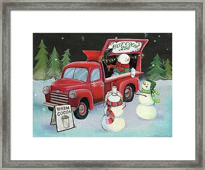 Christmas On Wheels Iv Framed Print