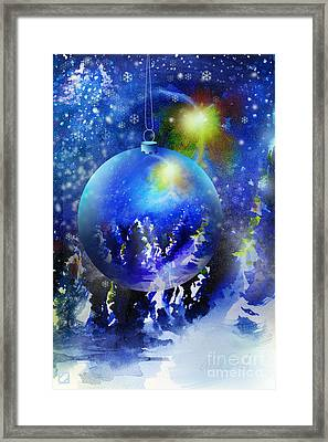 Framed Print featuring the painting Christmas Ornament by Allison Ashton