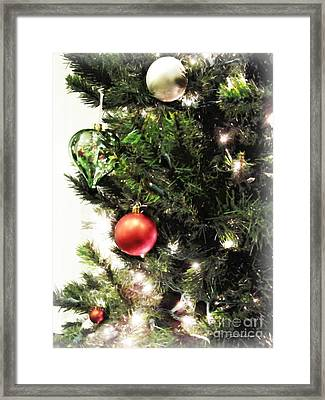 Christmas Ornaments Framed Print by Joan  Minchak