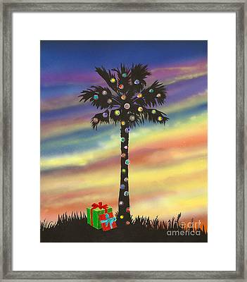 San Clemente Christmas Framed Print