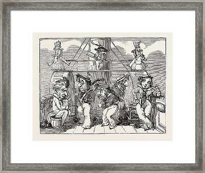 Christmas Pantomimes Princess Theatre. Scene Framed Print by English School