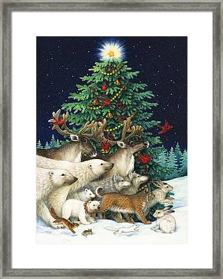 Christmas Parade Framed Print by Lynn Bywaters