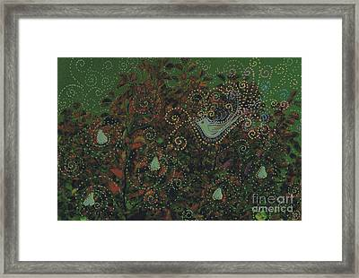 Christmas Partridge In A Pear Tree By Jrr Framed Print by First Star Art