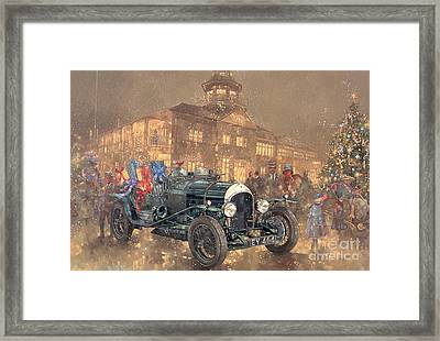 Christmas Party At Brooklands Framed Print by Peter Miller