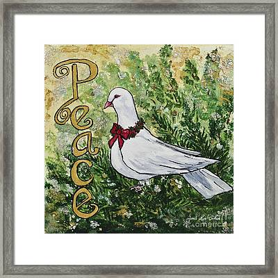 Christmas Peace Dove Framed Print