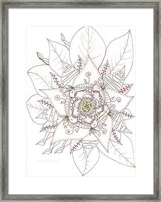 Christmas Peace Poinsettia  Framed Print