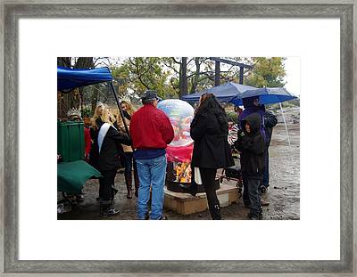 Christmas People Cold And Muddy Framed Print