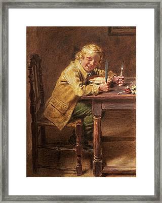 Christmas Pie Framed Print by William Henry Hunt