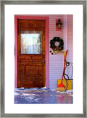 Christmas Pink Framed Print