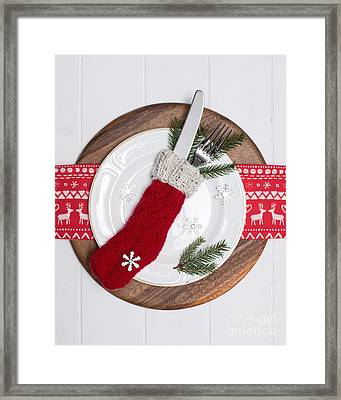 Christmas Place Setting Framed Print
