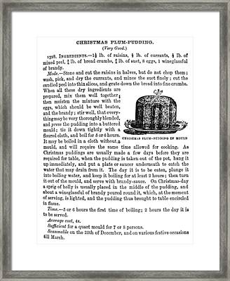 Christmas Plum Pudding Framed Print