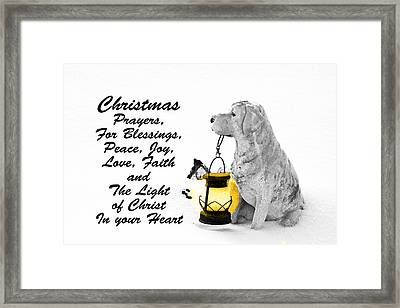 Christmas Prayers Framed Print by Lorna Rogers Photography