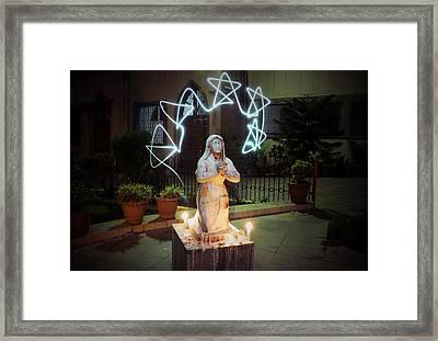 Christmas Prayers Framed Print by Money Sharma