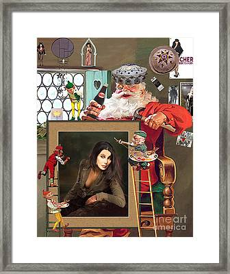 Christmas Preparation Framed Print by Donna  Schellack