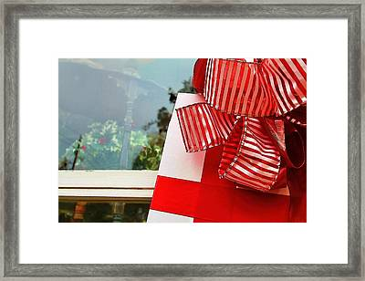 Christmas Present Framed Print by Audreen Gieger-Hawkins