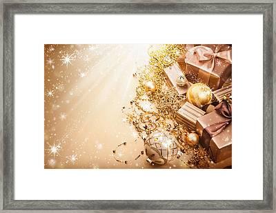 Christmas Presents Framed Print by Doc Braham