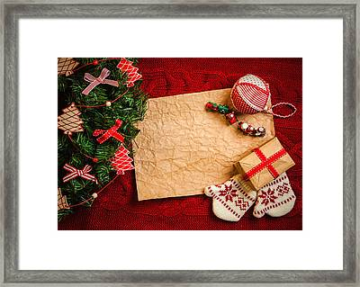 Christmas Presents For The Baby Framed Print by Doc Braham