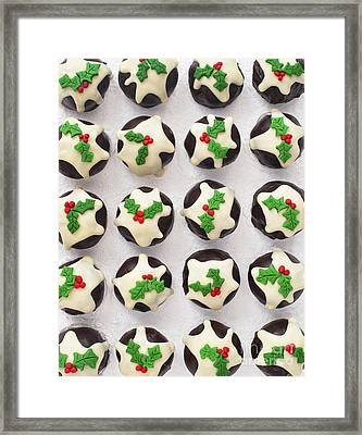 Christmas Pudding Chocolates Pattern Framed Print by Tim Gainey