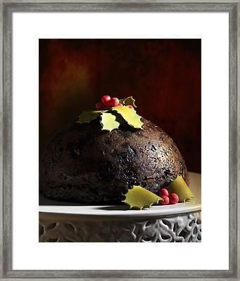 Christmas Pudding Framed Print by Amanda Elwell