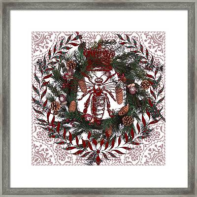 Christmas Queen Bee Framed Print