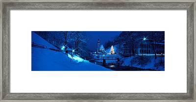 Christmas Ramsau Germany Framed Print
