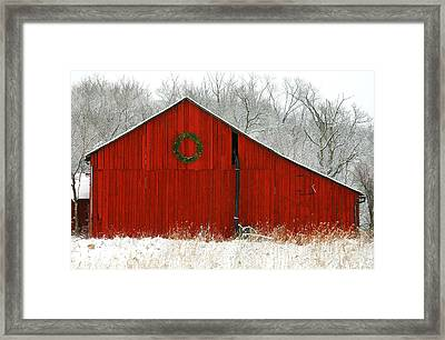 Framed Print featuring the photograph Christmas Red by Clare VanderVeen