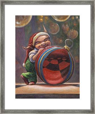 Christmas Reflections Framed Print by Leonard Filgate