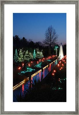 Christmas Reflections Framed Print by Rodney Lee Williams