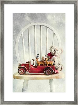 Christmas Reindeers Framed Print by Amanda Elwell