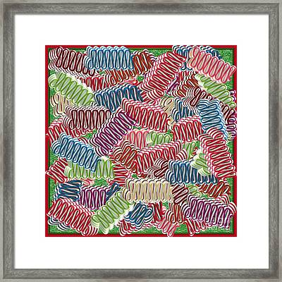 Christmas Ribbon Candies Framed Print