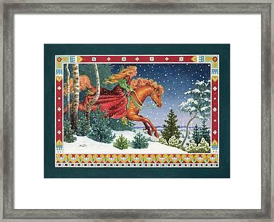 Christmas Ride Framed Print