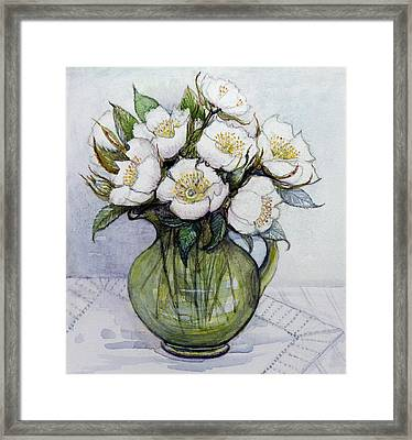 Christmas Roses Framed Print by Gillian Lawson
