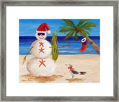 Christmas Sandman Framed Print