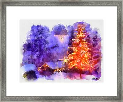 Framed Print featuring the painting Christmas Scenes 1 by Wayne Pascall