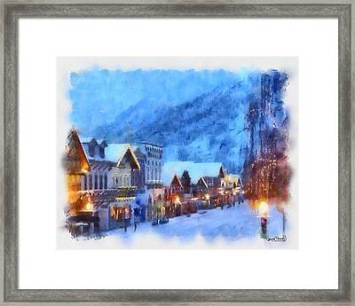 Framed Print featuring the painting Christmas Scenes 2 by Wayne Pascall