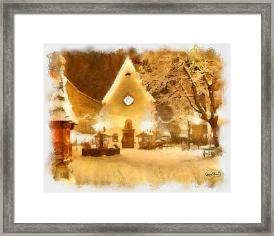 Framed Print featuring the painting Christmas Scenes 3 by Wayne Pascall